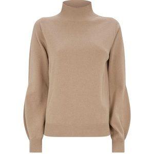 NEW Tan mock neck Peserico sweater size M (12)